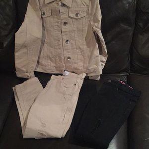 Children's Place light pink jacket 2 pants